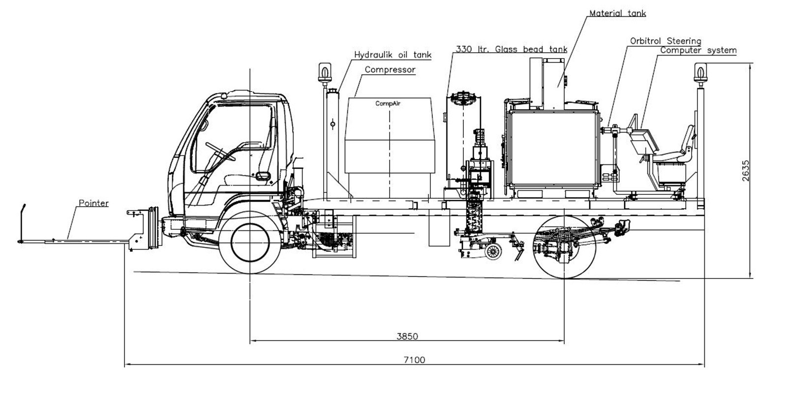 Mini Truck for Thermoplastic extrusion